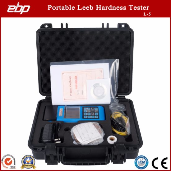 Portable Digital Rebound Leeb Hardness Tester Support D / Dl / G / DC / C Prob
