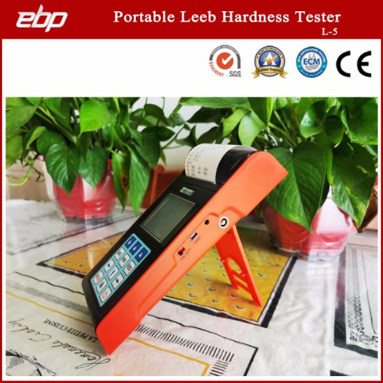 Professional Color Screen Digital Portable Leeb Hardness Tester with Printer
