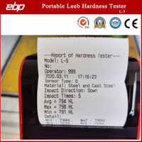 Color Screen Digital Portable Leeb Hardness Tester with Printer L-5
