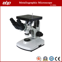E-100A Inverted Binocular Metallographic Microscope 40X - 1000X