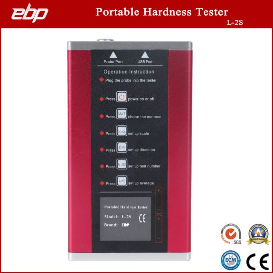 Portable Digital Rebound Leeb Hardness Tester Support D / Dl / G / DC / C Prob with Blocks