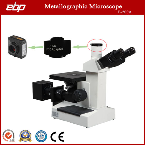 Metallurgical Microscope with Analysis Software Auto Grade Rating with Camera