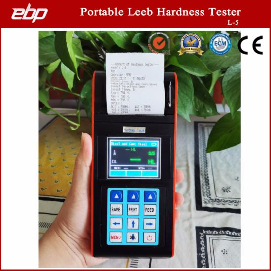 Portable Color Screen Digital Rebound Leeb Sclerometer Support D / Dl / G / DC / C Prob